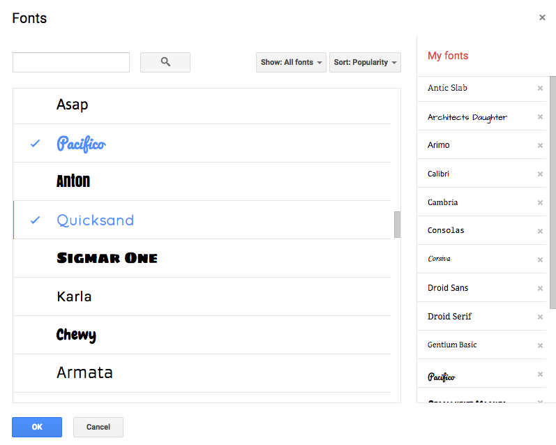 Add Fonts to Google Docs