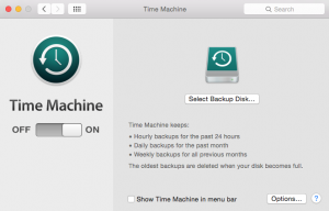 Backup Solution Apple Time Machine