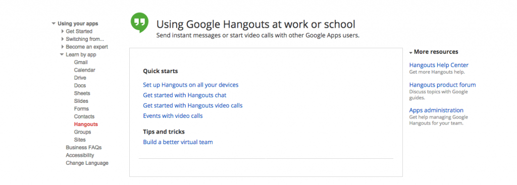 Google Apps Support and Documentation