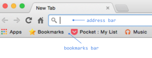 Address and Bookmarks Bars