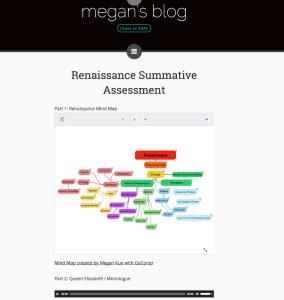 Megan Mind Maps on her Website