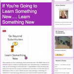 If Youre' Going to Learn Something New