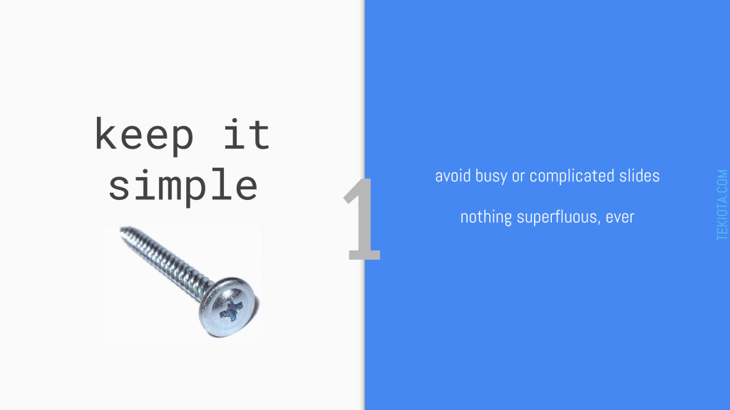 Presentation Zen - 1 Keep It Simple
