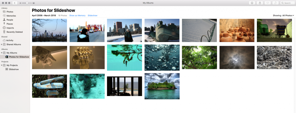 Make a Slideshow With a Mix of Photos and Videos