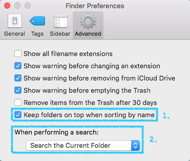 Customize Apple Finder Preferences Advanced