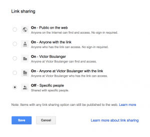 Share A File in Google Drive Link Sharing