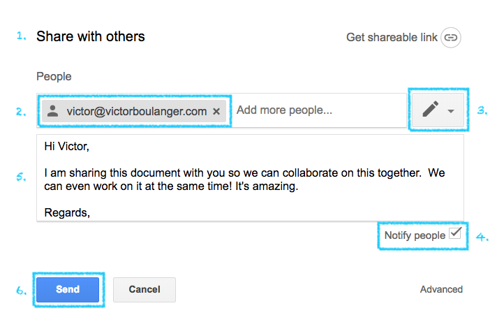 Share A Google Doc In Google Drive With Others